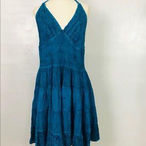 Sakkas Blue Embroidered Dress Sz 1x